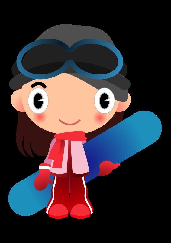 Free snowboard girl