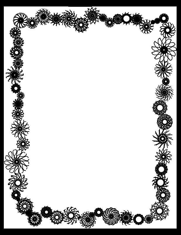 Free Flower frame