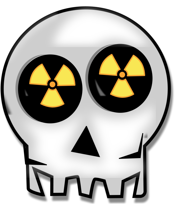 Free Clipart: Nuclear skull | piotrsy