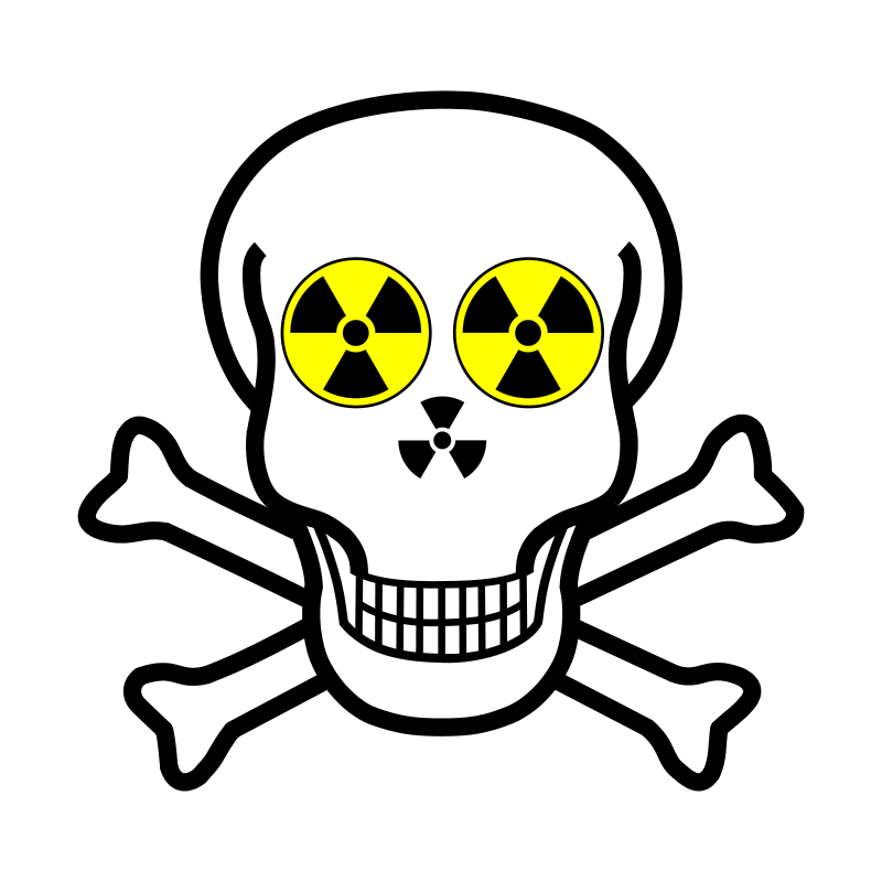 Free Nuclear warning skull