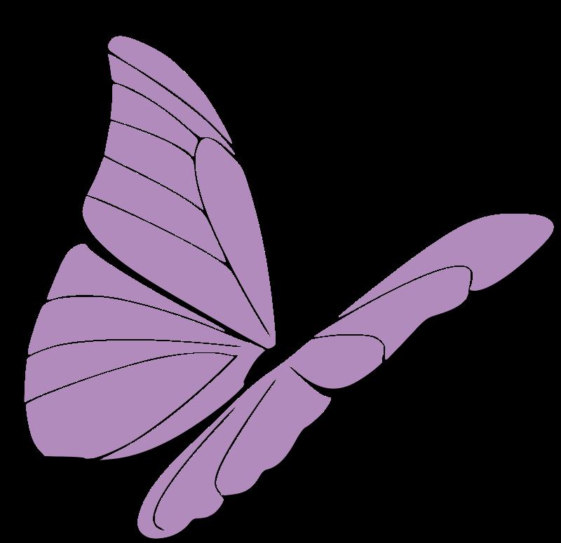 Free purple butterfly