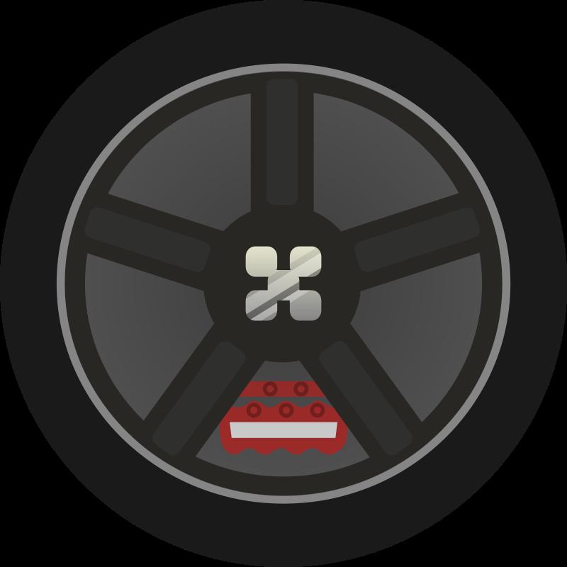 Free Dark Simple Car Wheel Tire Rims Side View