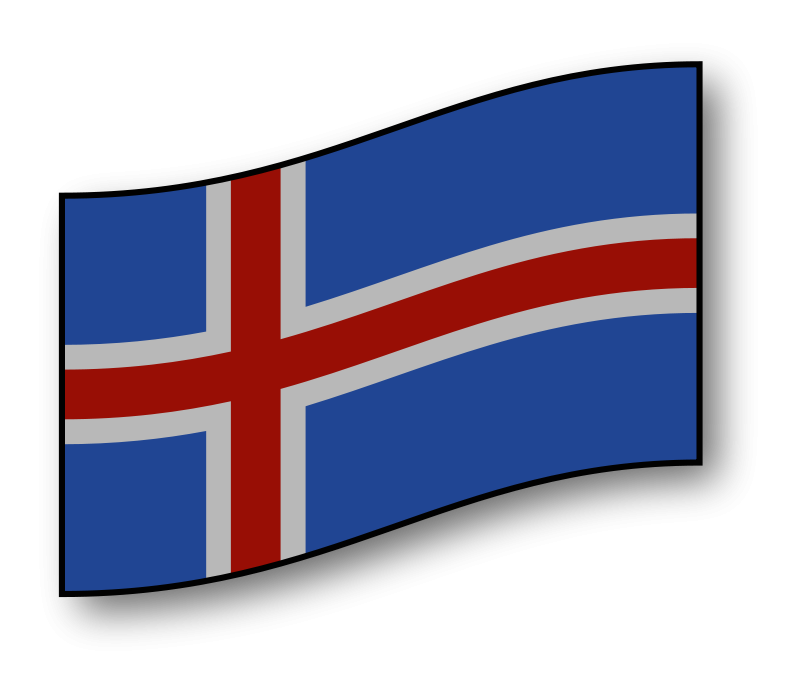 Free interactive Iceland flag