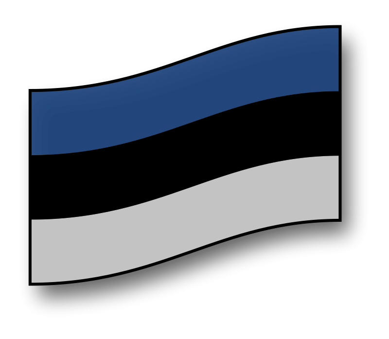 Free clickable Estonia flag