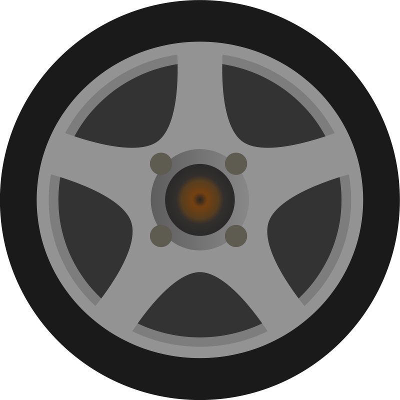Free Simple Car Wheel/Tire Side View