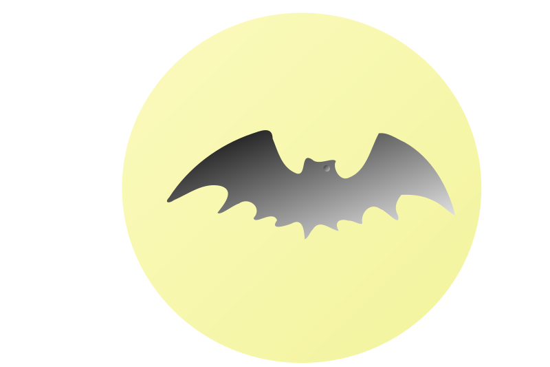 Free Bat-in-front-of-moon