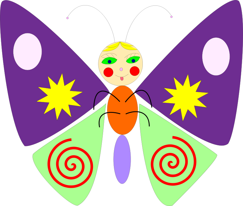 Free cartoon butterfly
