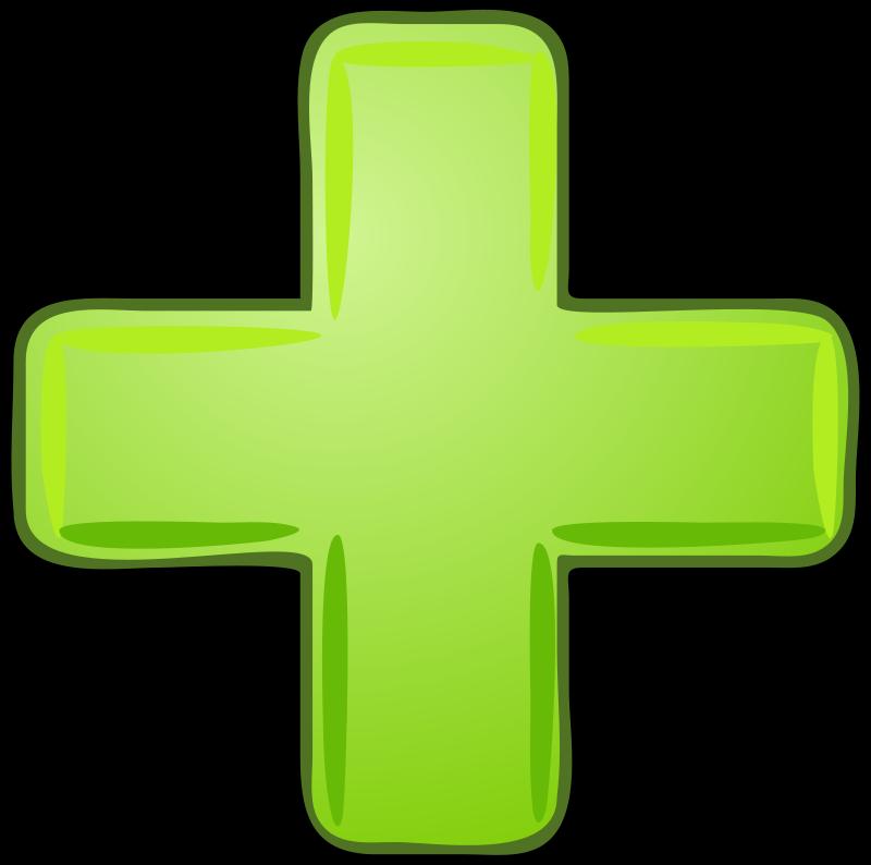 Free Green plus with black border