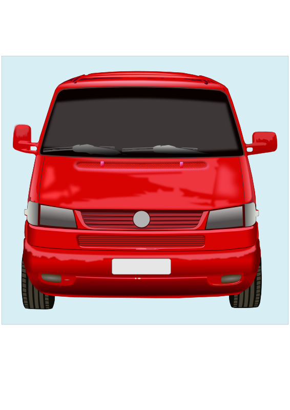 Free Clipart Roter Vw Bus Marauder