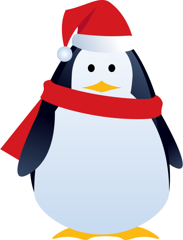 Free christmas penguin