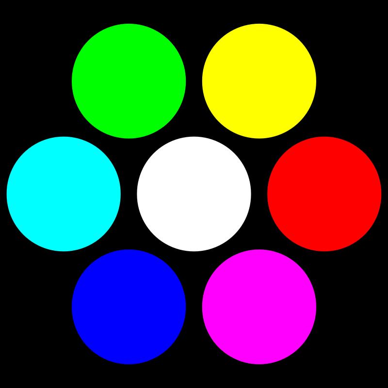 Free 7 circles on black
