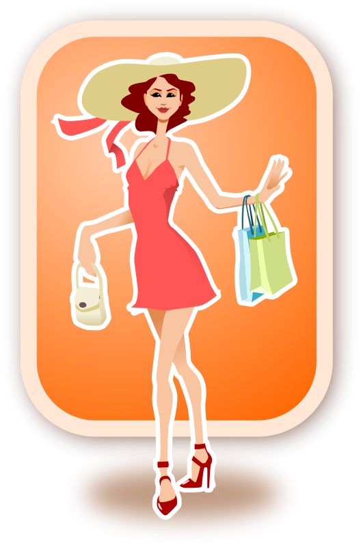 Free shopping woman