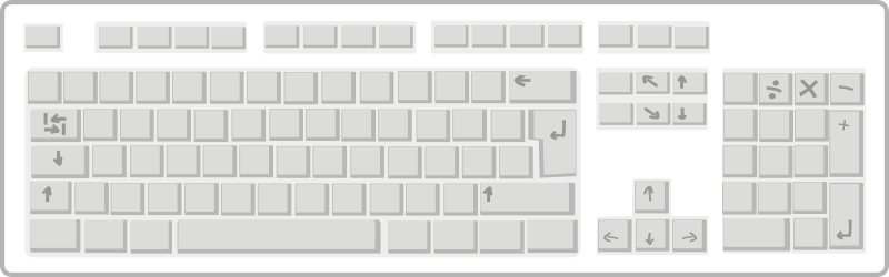 Free Blank White Keyboard