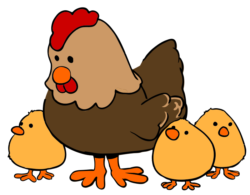 free clipart hen and chicks cartoon style qubodup rh 1001freedownloads com free farm animal border clipart free cute farm animal clipart