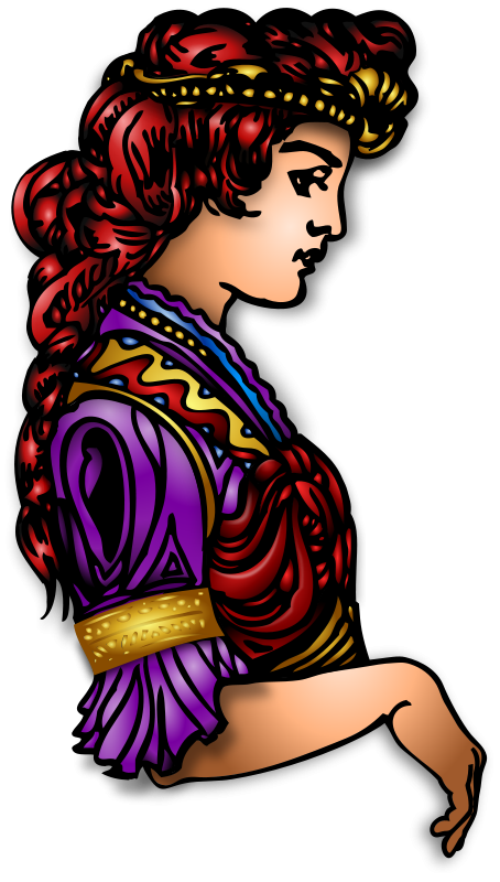 Free Clipart: Golden Maiden Layered Remix 1 | Merlin2525