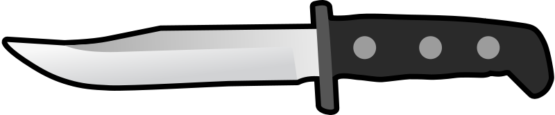 Free Simple Flat Knife Side View