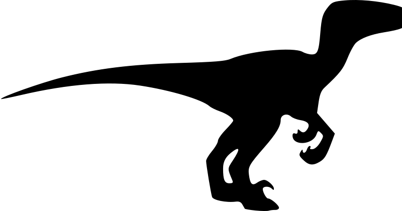 Free velociraptor silhouette