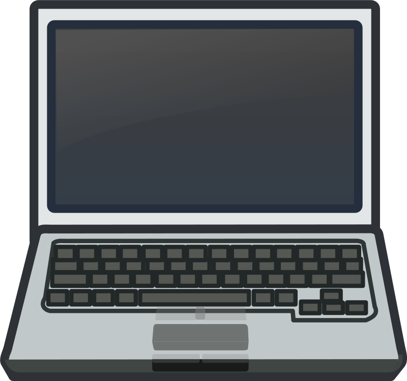 Free White Laptop Notebook Netbook