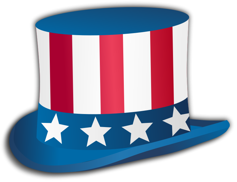 Free Clipart: 4th July Hat | gnokii