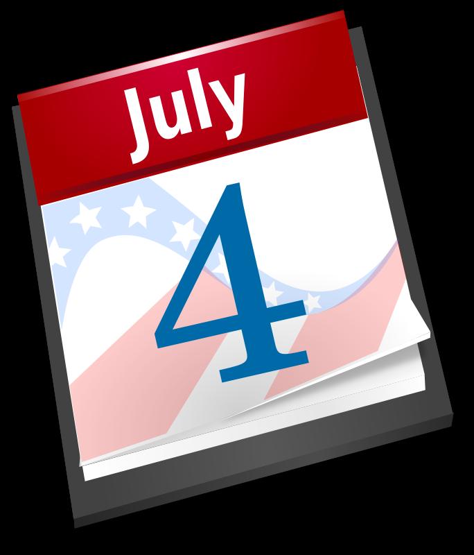 Free 4th July Calendar