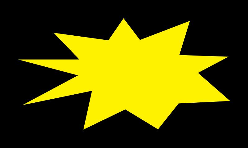 Free Clipart: Comic Burst - Explosion - Abstract 005 | TikiGiki
