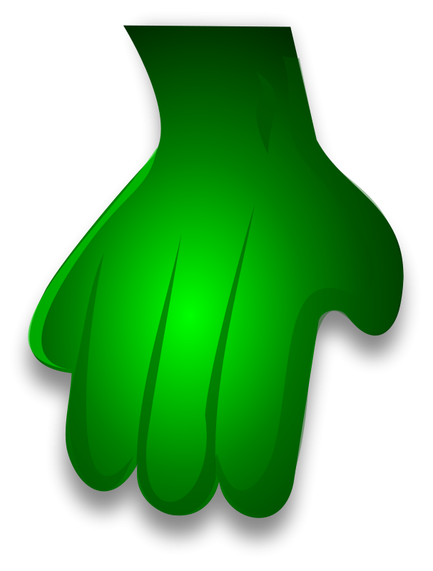 Free Green Monster Hand 2