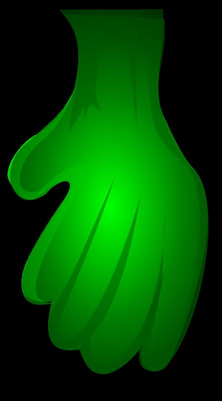 Free Green Monster Hand 1