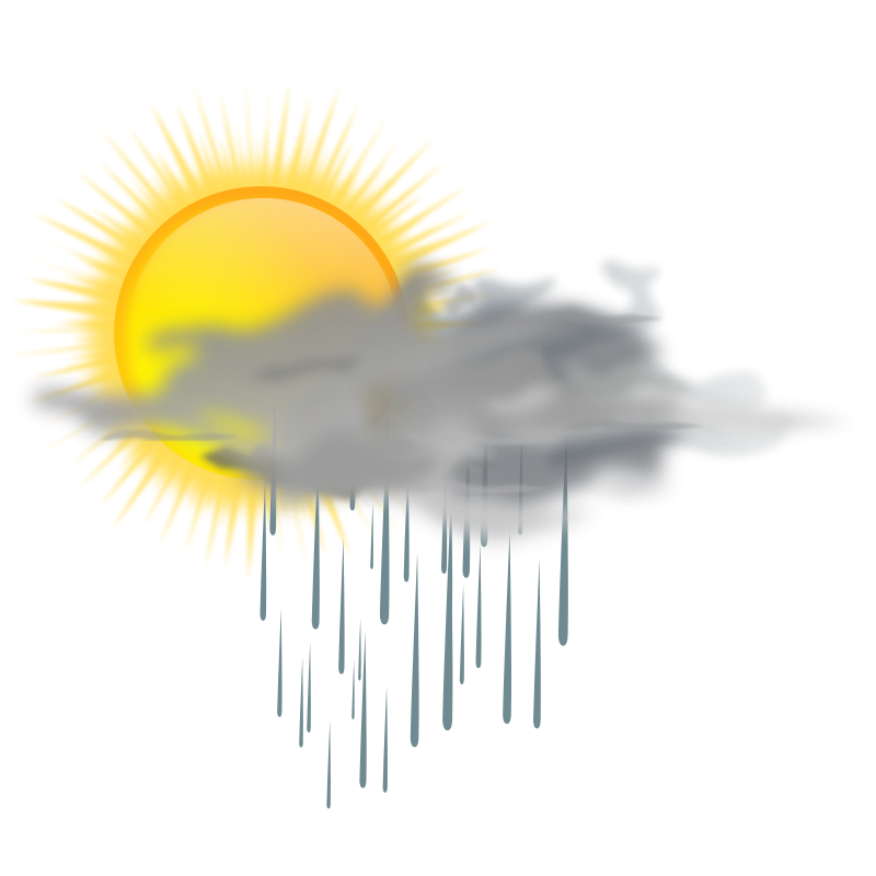 Free weather icon - sun rain
