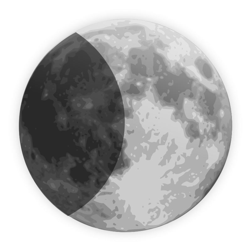 Free weather icon - half moon