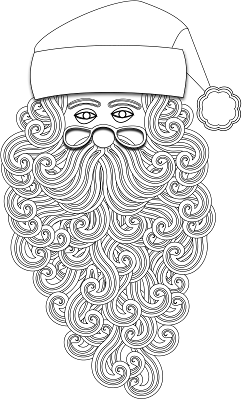 Free Clipart: Santa 1 Outline | Merlin2525