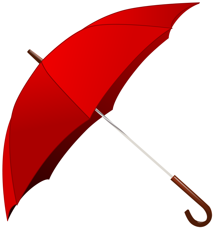 free clipart red umbrella gnokii rh 1001freedownloads com clipart umbrella outline clip art umbrellas made like animals