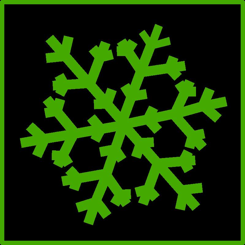 Free eco green snow icon