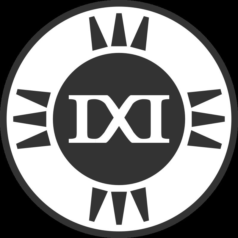 Free Clipart: Fictional Brand Logo: IXI Variant E | qubodup