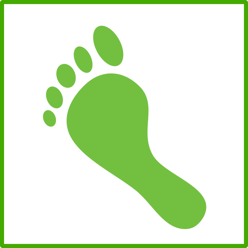 Free eco green carbon footprint icon