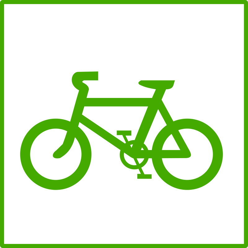 Free eco green bicycle icon