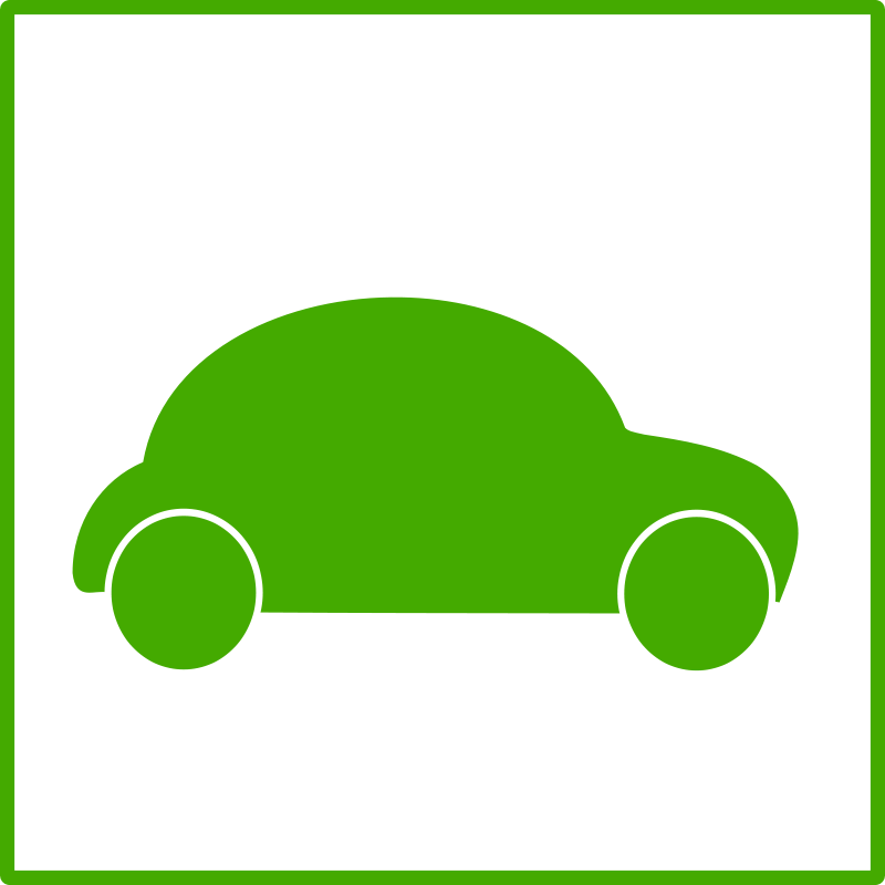 Free eco green car icon