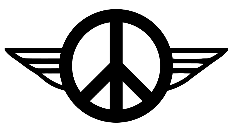 Free Wings of Peace 1 - B&W
