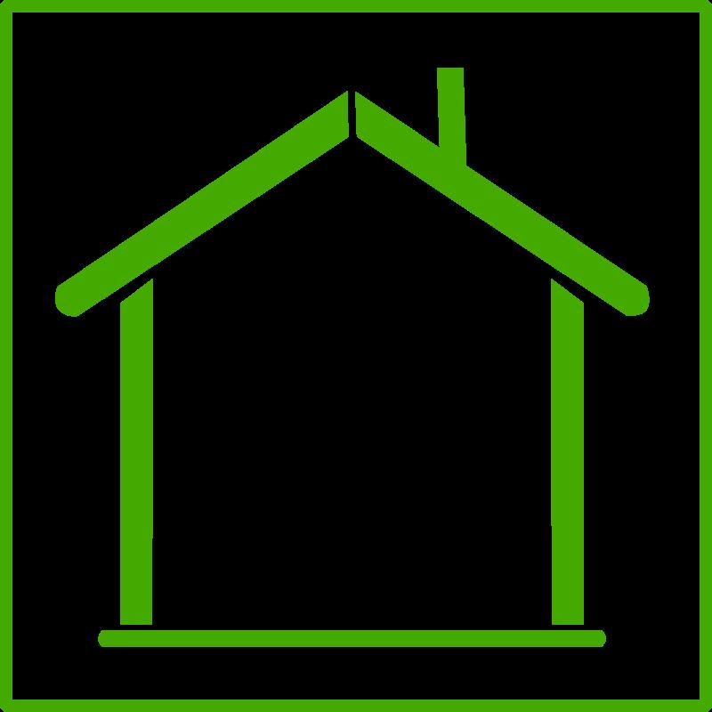 Free eco green house icon