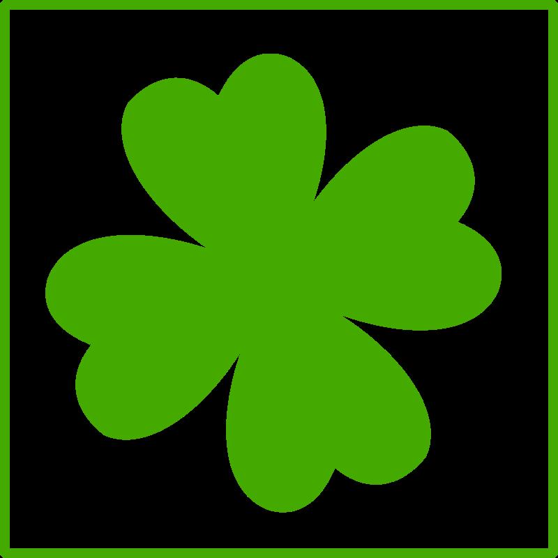 Free eco green quatrefoil icon