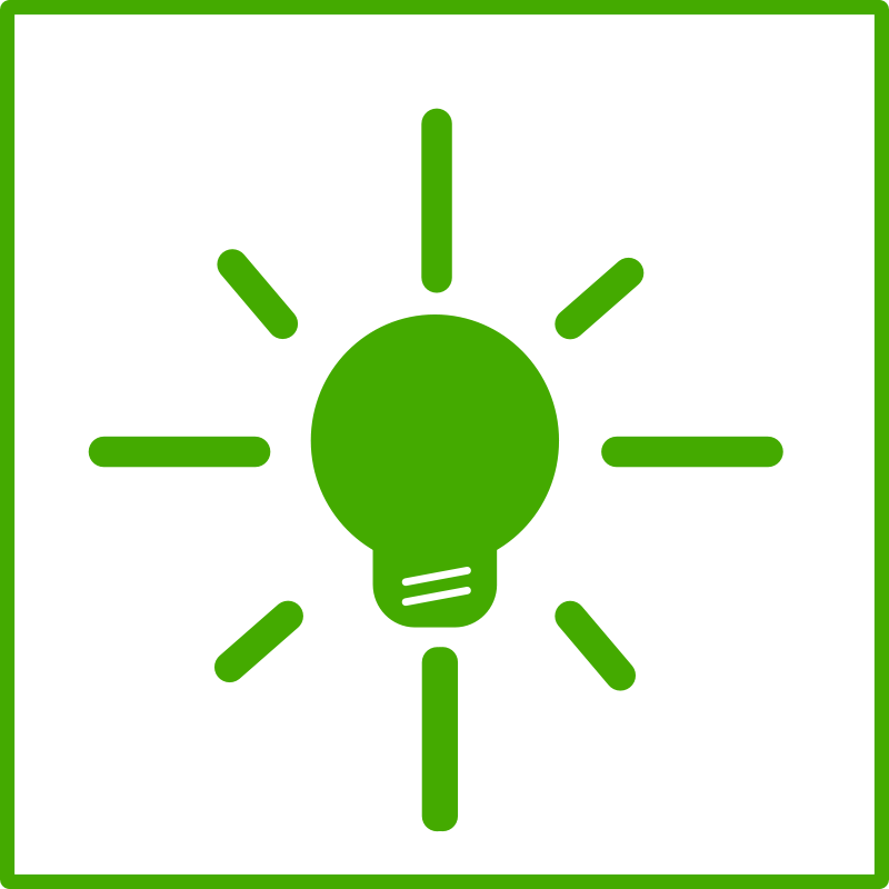 Free eco green light bulb icon