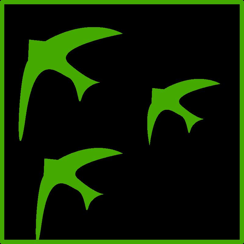 Free eco green  birds icon