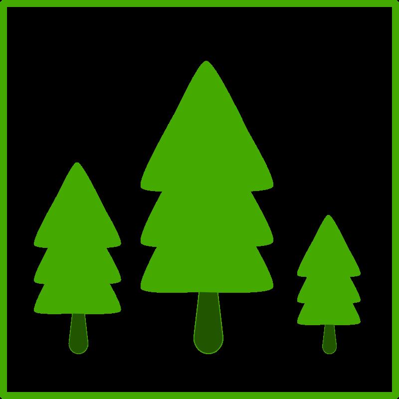 Free eco green trees icon