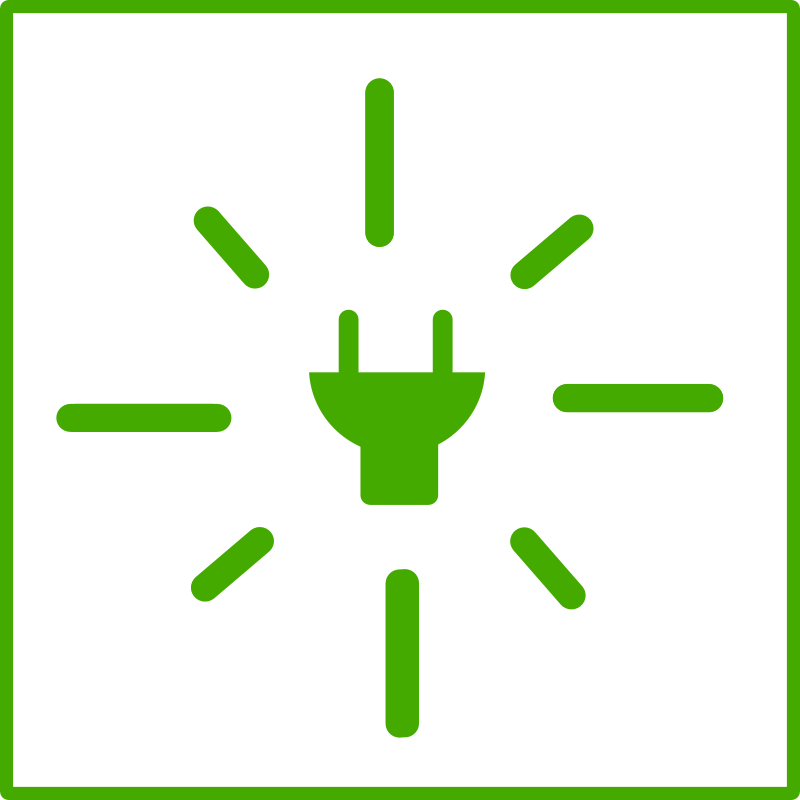 Free eco green energy icon