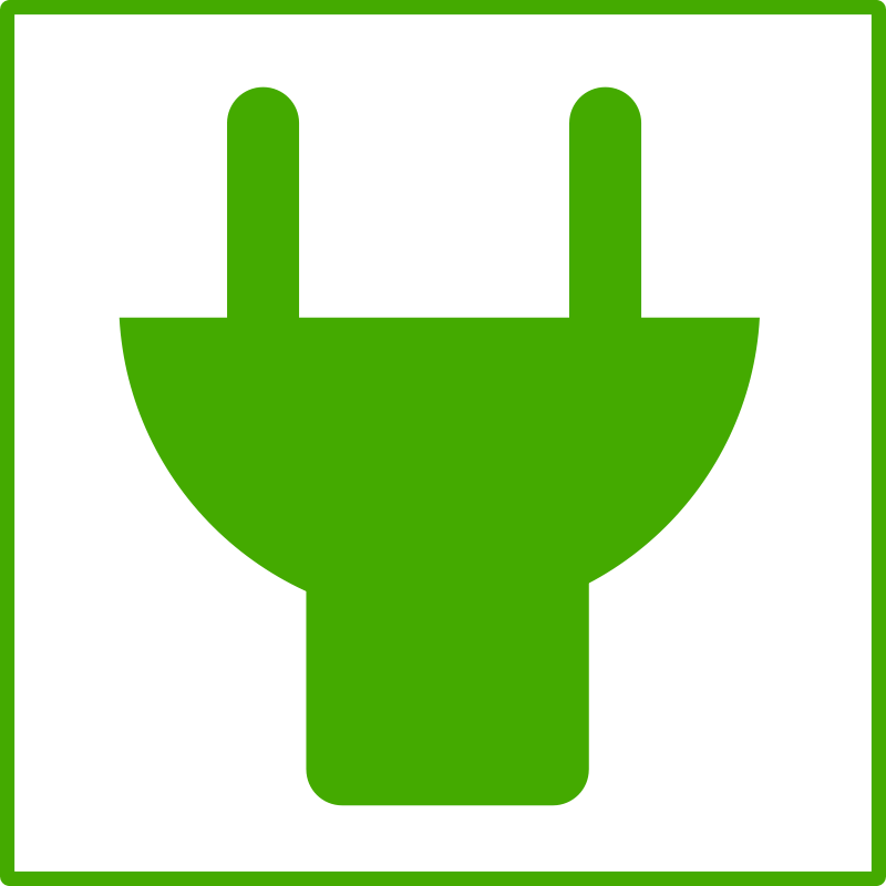 Free eco green plug icon