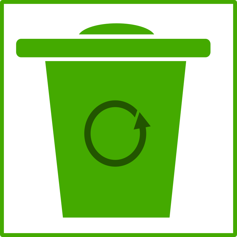Free eco green trash icon