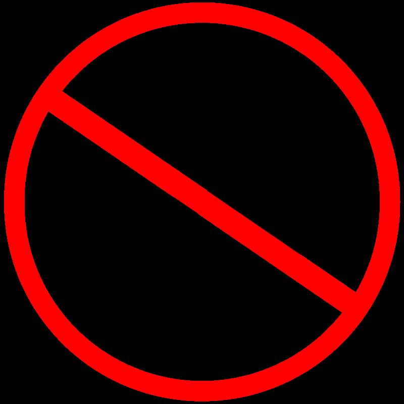 Free No horn sign. Señal de no tocar bocina, claxón.