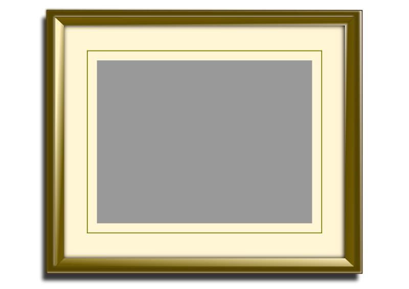 Free Golden picture frame