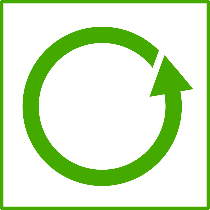 Free eco green recycle icon
