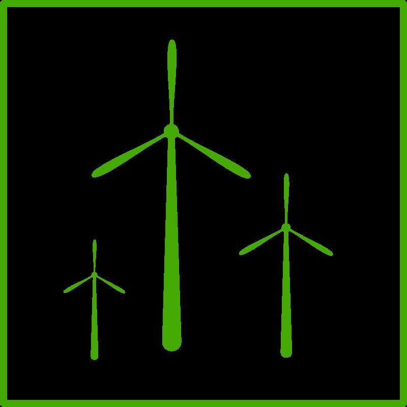 Free eco green windmill icon