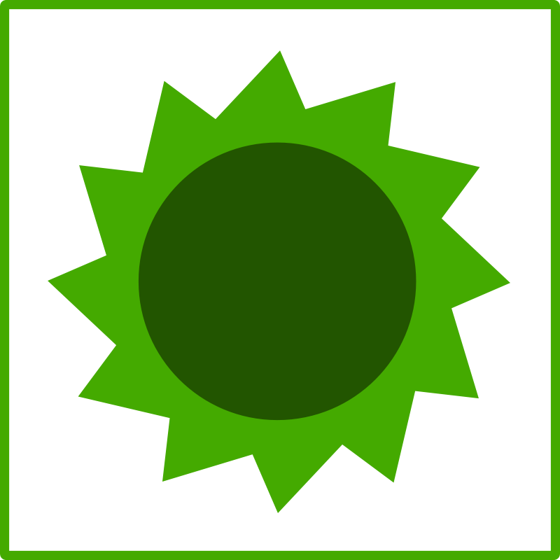 Free eco green sun icon